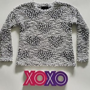 JESSICA SIMPSON snow hearts cropped sweater